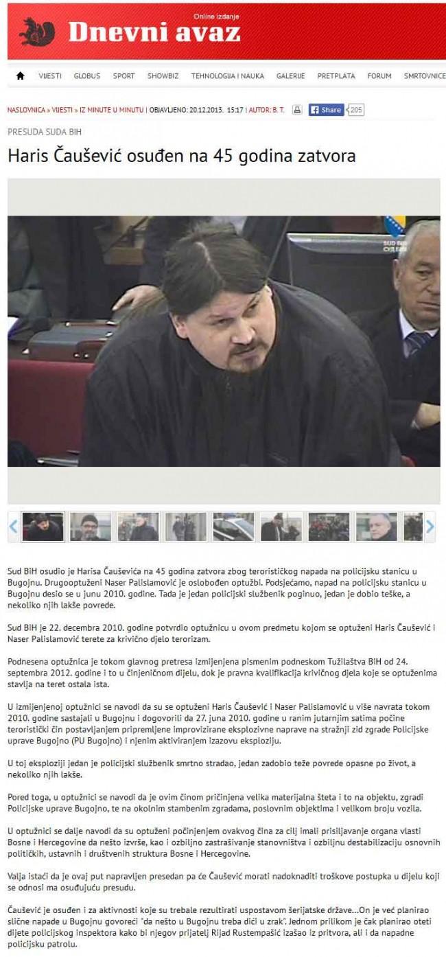 Haris-Čaušević-osuđen-na-45-godina-zatvora---Avaz---Online-izdanje-2013-12-20-23-32-29