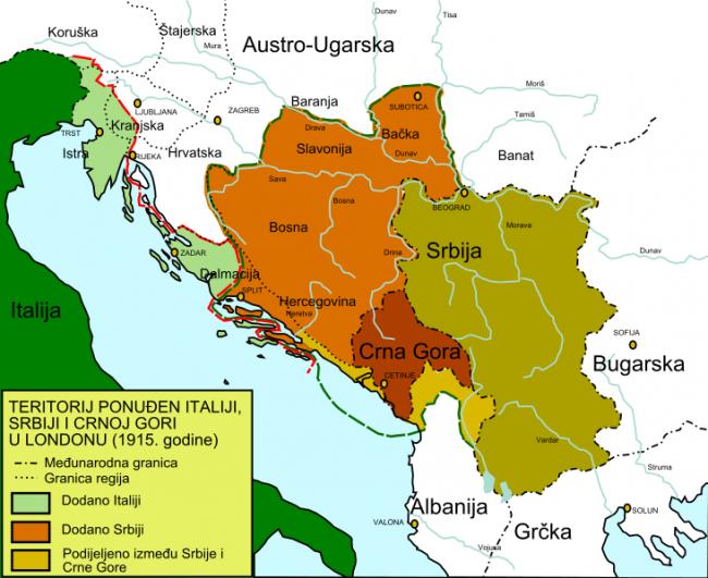Londonski ugovor (karta)