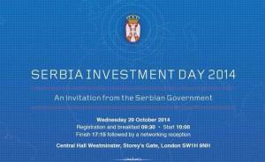 Pozivnica za Serbian Investment Day sa Vučićevim potpisom i mejl adresom Bell Pottinger