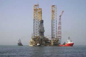 Shah Deniz Alpha during construction