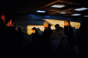 Zeleni venac subway during rush hour, Central Belgrade, 31. January 2013. Photo credit: Saša Čolić/Kamerades