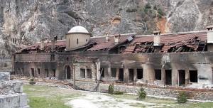 Манастир Свети Архангели код Призрена су страдали 17. марта 2004