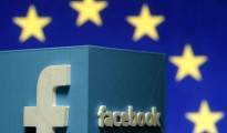 """A 3D-printed Facebook logo is seen in front of the logo of the European Union in this file picture illustration made in Zenica, Bosnia and Herzegovina, May 15, 2015. The European Court of Justice (ECJ) is expected this week to rule on the continued legality of the Safe Harbour agreement, which is used by companies such as Facebook and MasterCard. The Safe Harbour framework agreement was established 15 years ago to enable companies to easily transfer personal data to the United States without having to seek prior approval, a potentially lengthy and costly process. REUTERS/Dado Ruvic/Files GLOBAL BUSINESS WEEK AHEAD PACKAGE - SEARCH """"BUSINESS WEEK AHEAD OCTOBER 5"""" FOR ALL 29 IMAGES"""