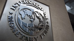 epa04143037 (FILE) A file photo dated 18 May 2011 showing the sign of the International Monetary Fund at the entrance of the Headquarters of the IMF, also known as building HQ2, in Washington, DC, USA. The International Monetary Fund (IMF) on 27 March 2014 offered Ukraine between 14 and 18 billion dollars in loans over two years to help the country avoid financial collapse after months of unrest that culminated in Russia's annexation of the Crimean Peninsula. Ukraine's interim leaders, who came to power after three months of pro-European Union protests that forced president Viktor Yanukovych to flee the country in late February, have already started discussing a series of reforms aimed at stabilizing the economy. Measures announced by interim prime minister Arseniy Yatsenyuk on Thursday include axing 24,000 public sector jobs and special pensions for members of the judiciary and the military, as well as a 50-per-cent increase in gas prices, starting on May 1. EPA/JIM LO SCALZO