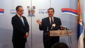 Gradonačelnik Niša, prof. dr Zoran Perišić i predsednik Skupštine grada prof.dr Mile Ilić