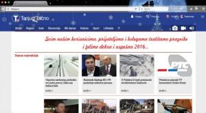 Sajt agencije Tanjug / Foto: Printscreen
