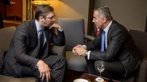 Aleksandar Vučić i Milo Djukanović (foto:www.vijesti.me)