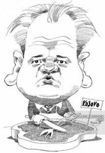 """Слободан Милошевић као """"Balkanski kasapin"""" (Autor: Nilsson-Maki, Kjell)"""