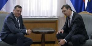 Beograd, 9. septembra 2016 - Premijer Srbije Aleksandar Vucic sastao se danas sa predsednikom Republike Srpske Miloradom Dodikom. FOTO TANJUG / ZORAN ZESTIC / bb