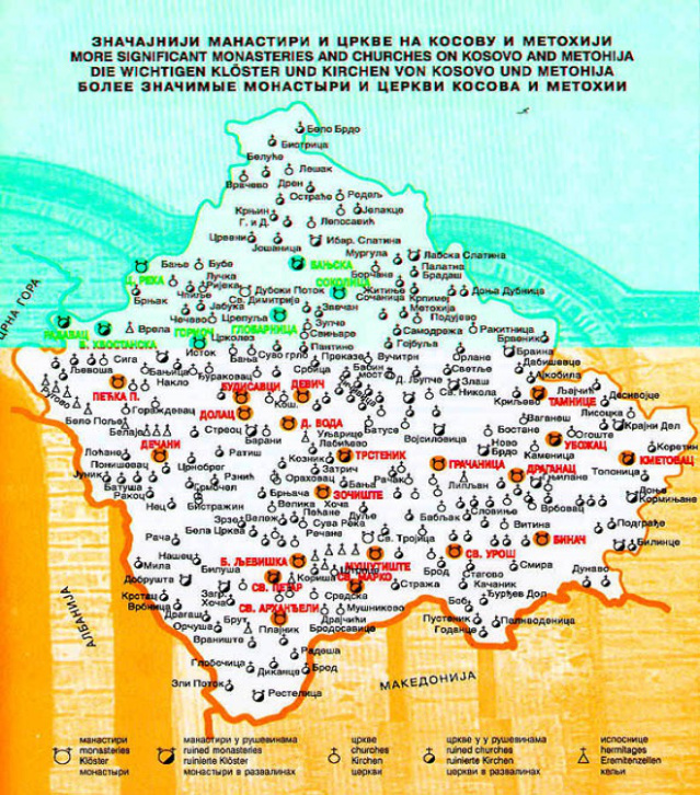 Rusi I Ruska Pravoslavna Crkva Se Mole Za Kosovo I Srbiju Mapa