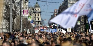 Štrajk prosvetara 2014-2015.; Foto: Nemanja Jovanović / Kamerades